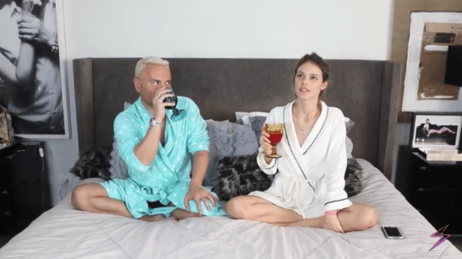 Matheus Mazzafera e Laura Neiva - Reprodução/YouTube