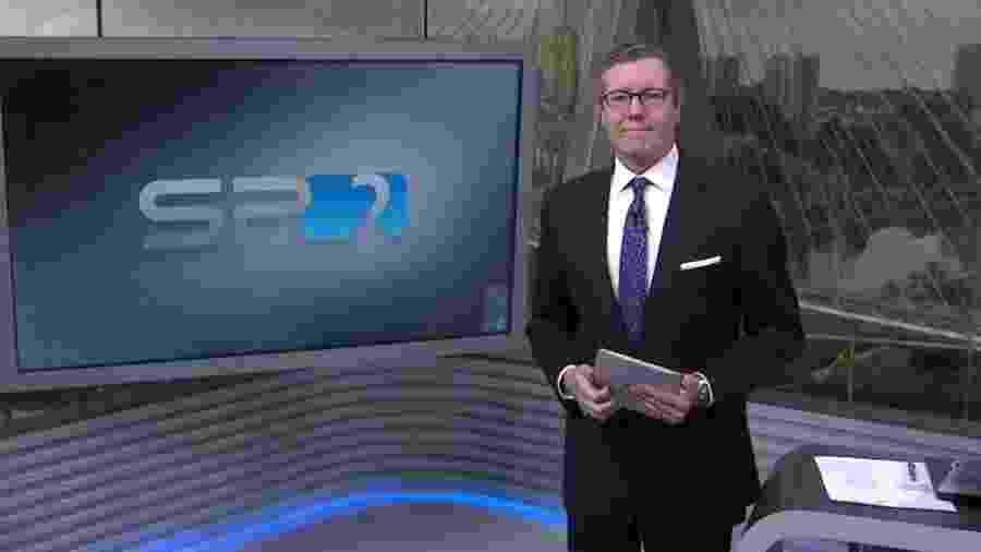 """Márcio Gomes estreia como apresentador do """"SPTV 2ª Edição"""" - Reprodução/TV Globo"""