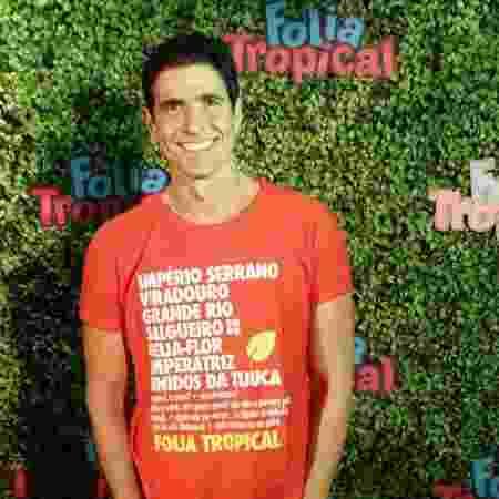 Reynaldo Gianechinni curte o Carnaval do Rio no camarote Folia Tropical - Divulgação