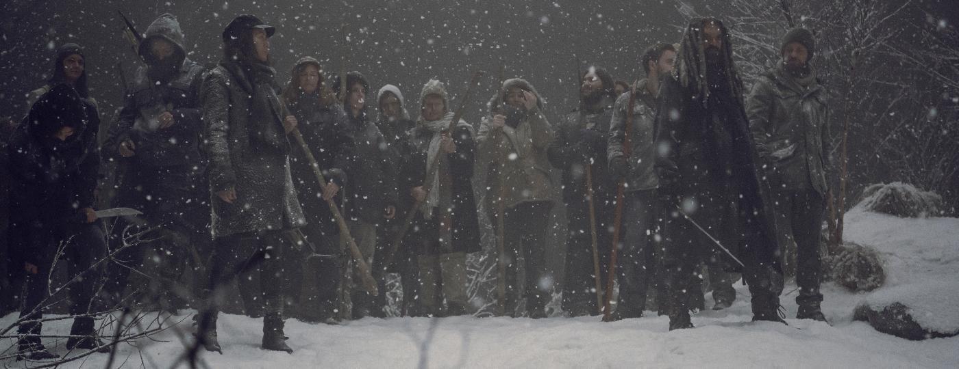 """Sobreviventes enfrentam nevasca no final da nona temporada de """"The Walking Dead"""" - Divulgação"""