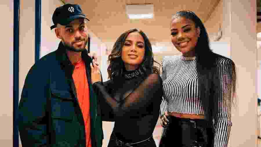 Papatinho, Anitta e Ludmilla - Artur Meninea/TV Globo/Divulgação