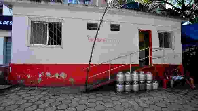 A sede da Rede Postinho de Saúde antes da reforma, no Morro do Cantagalo, no Rio - Arquivo Pessoal