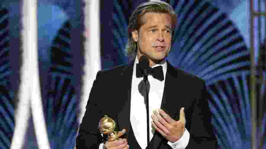 Brad Pitt discursa após ganhar Globo de Ouro - Reuters