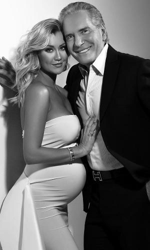 Roberto Justus e Ana Paula Siebert, na 32ª semana de gravidez