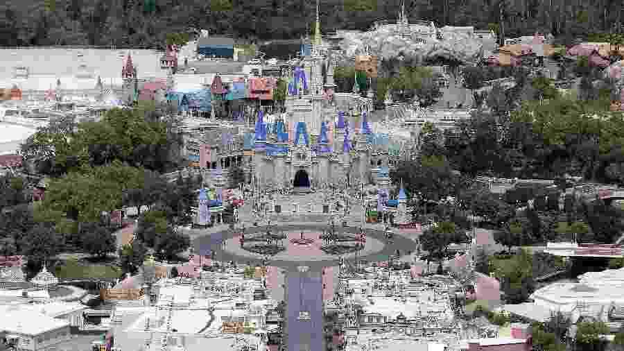 Disney afirma que faturamento dos parques caiu 85% entre abril e junho em relação a 2019 - Alex Menendez/Getty Images