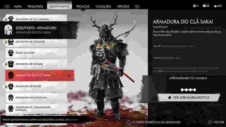 Ghost of Tushima Armadura - Daniel Esdras/GameHall - Daniel Esdras/GameHall