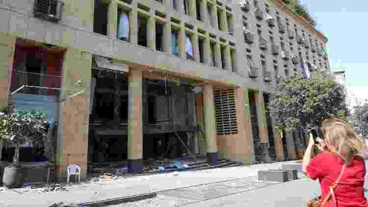 Le Gray Hotel danificado - AFP - AFP