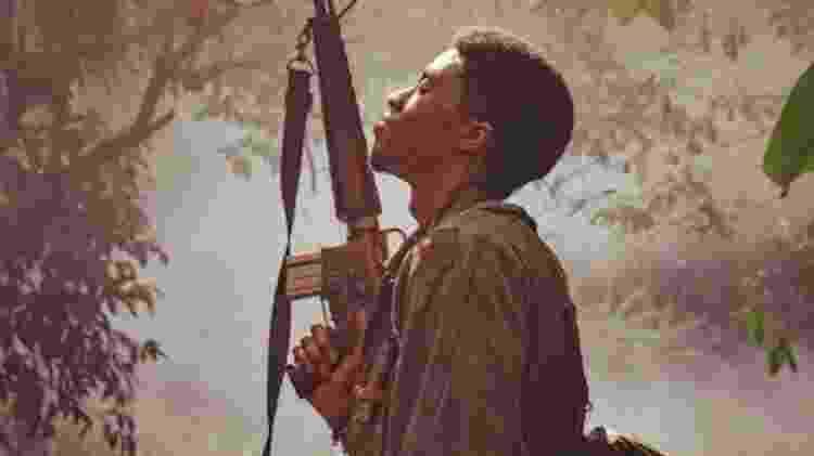 Chadwick Boseman em 'Destacamento Blood', de Spike Lee - Reprodução - Reprodução