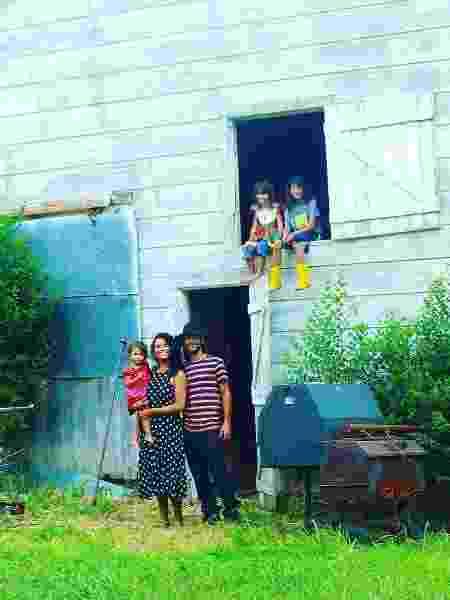 A família na fazenda no Kansas, Estados Unidos - Arquivo pessoal - Arquivo pessoal