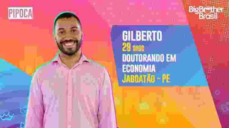 Gilberto no BBB 21 - Divulgação - Divulgação