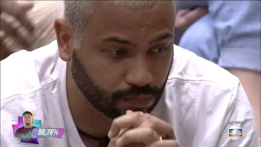BBB 21: Projota reage à eliminação de Nego Di - Reprodução/Globoplay