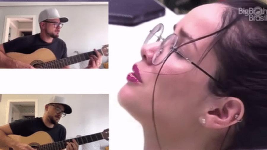 BBB 21: Músico toca melodias para Juliette - Reporudção/Instagram