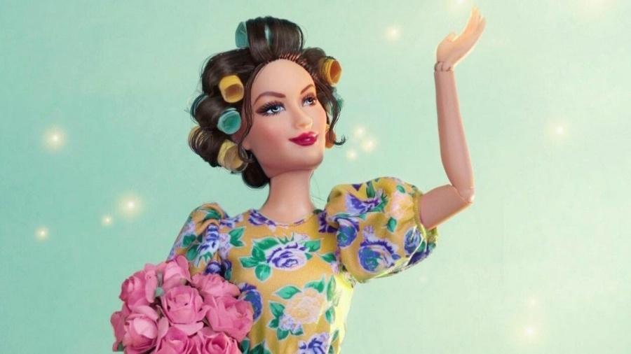 Barbie Dona Hermínia feita por Guto Soares em homenagem a Paulo Gustavo - Reprodução/Instagram/Guto Collector