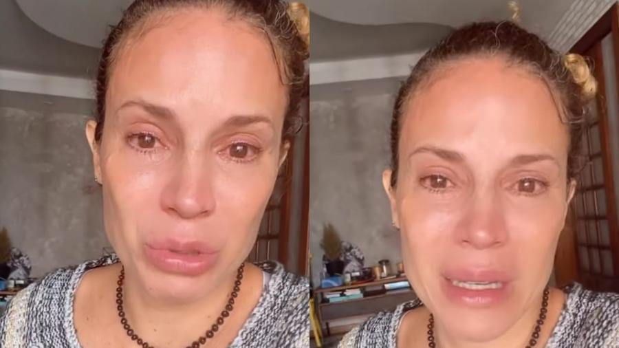 """Maíra Charken, ex-apresentadora do """"Vídeo Show"""", chora ao desabafar sobre dificuldades de encontrar trabalhos como atriz - Reprodução/Instagram"""