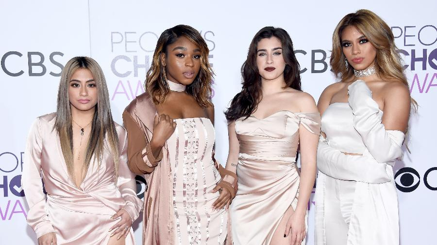 "Ally Brooke, Normani Kordei, Lauren Jauregui e Dinah Jane, do Fifth Harmony, no People""s Choice Awards - Kevork Djansezian/Getty Images/AFP"