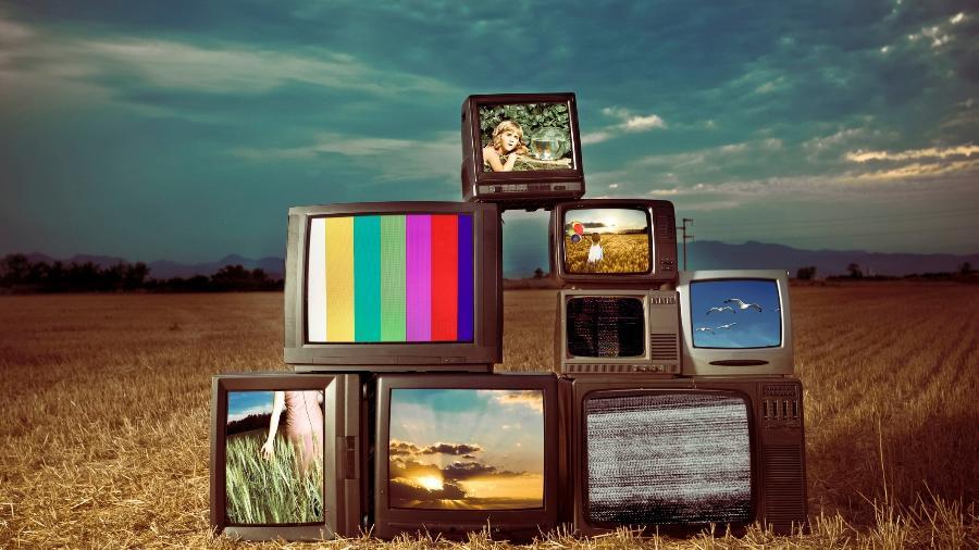 TV televisão televisões antigas antiga analógica - Getty Images/Vetta