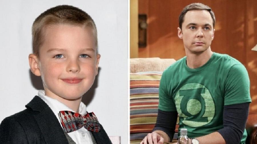 O ator Iain Armitage, que viverá um Sheldon mirim em nova série - Reprodução/Montagem
