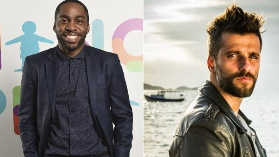 Os atores Lazaro Ramos e Bruno Gagliasso - TV Globo/Divulgação/Montagem UOL