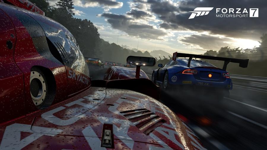 """""""Forza Motorsports 7"""" brilhou na E3, mas não concorrerá sozinho ao pódio dos games de corrida - Divulgação"""