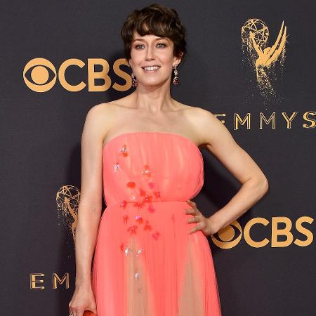 A atriz Carrie Coon no Emmy 2017 - Frazer Harrison/Getty Images