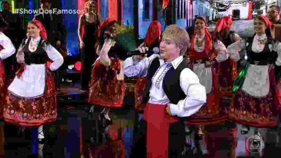 Helga Nemeczyk ganhou 10 dos 3 jurados por sua performance como Roberto Leal - Reprodução