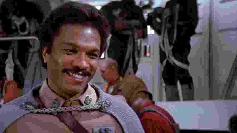 """O ator Billy Dee Williams como Lando Calrissian em """"Star Wars"""" - Reprodução"""