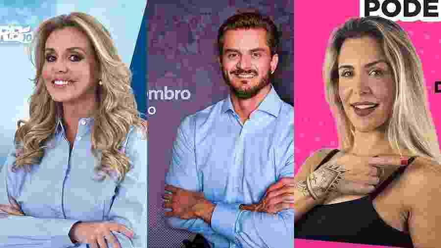 Renata Banhara, Marcos Harter e Joana Machado - Reprodução/Instagram