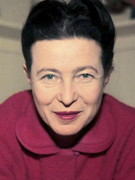 A filósofa feminista Simone de Beauvoir  - Reprodução