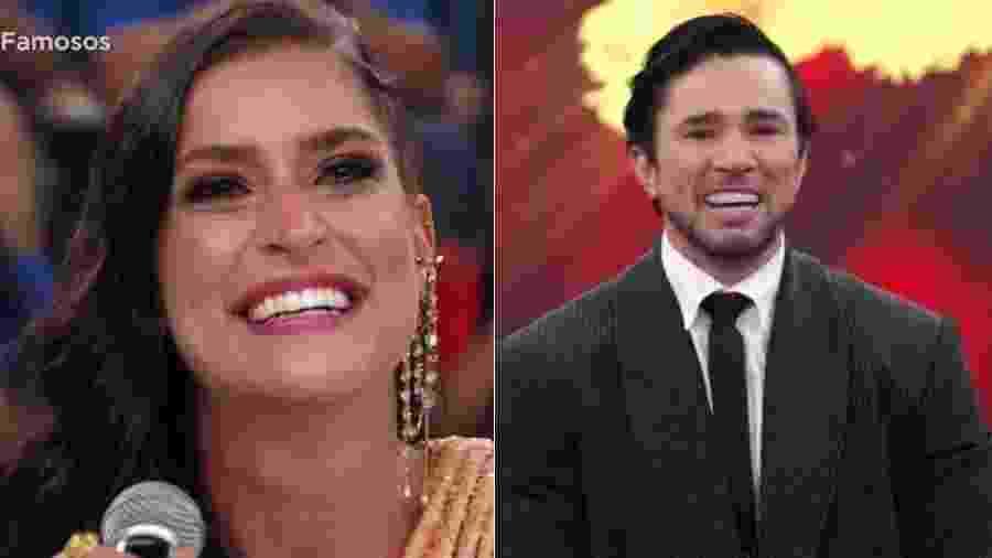 """Maria Joana e Reginaldo Sama choram na """"Dança dos Famosos"""" - Montagem/UOL/Reprodução/TV Globo"""