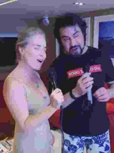 Angélica e padre Fábio de Melo curtem karaokê - Reprodução/Instagram