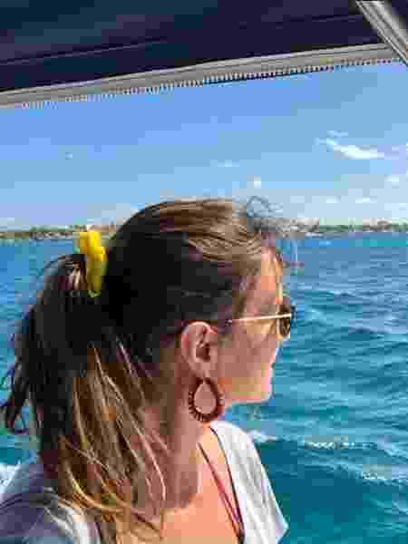 Luciana Cardoso, mulher de Faustão, durante passeio de barco no México - Reprodução / Instagram - Reprodução / Instagram