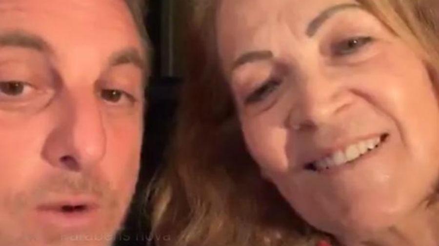 Luciano Huck com a sogra, Angelina Ksyvicks - Reprodução/Instagram