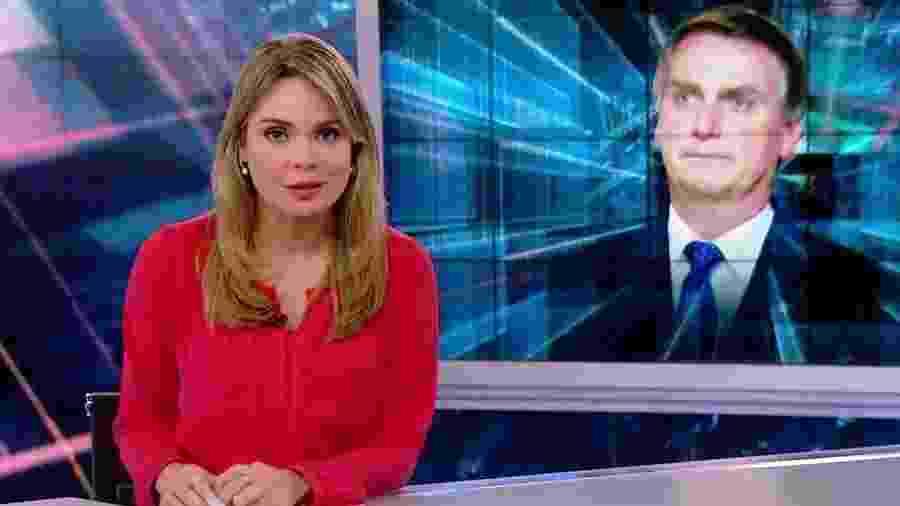 A jornalista Rachel Sheherazade, apresentadora do SBT Brasil - Reprodução/SBT