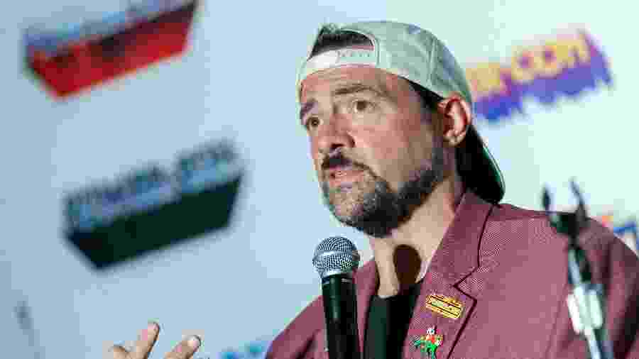 Kevin Smith durante a Power-Con, na Califórnia - Getty Images