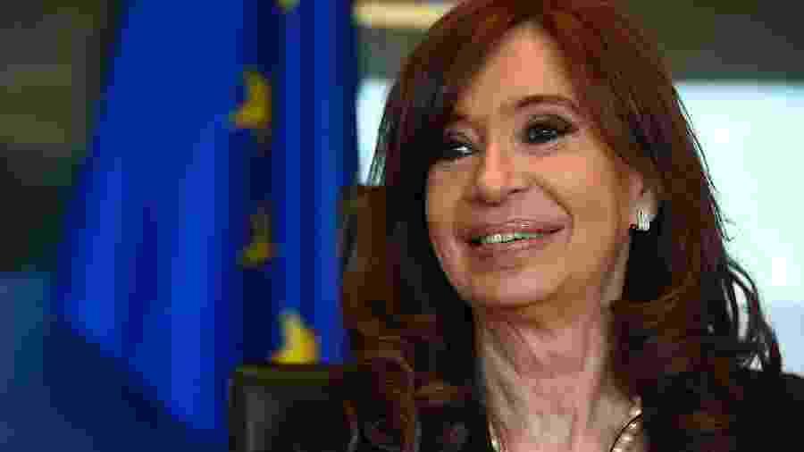 A ex-presidente da Argentina Cristina Kirchner, candidata à vice nas eleições que ocorrem no domingo (27) - AFP