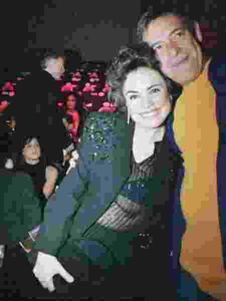 Regina Duarte e José de Abreu foram fotografados juntos em 2002 - Reprodução/Tiago Queiroz/Acervo Estadão