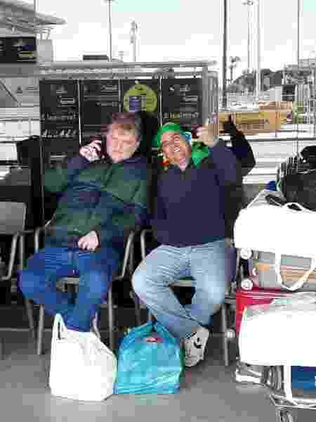 Brasileiros no Aeroporto de Lisboa, em Portugal - Arquivo Pessoal