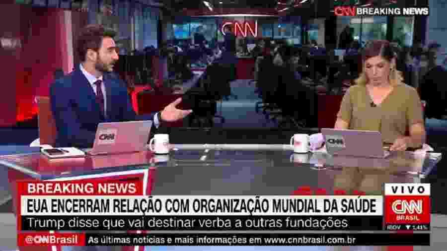 Evandro Cini substituiu Reinaldo Gottino na bancada  - Reprodução/CNN Brasil