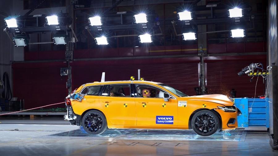 Crash test da Volvo - Divulgação