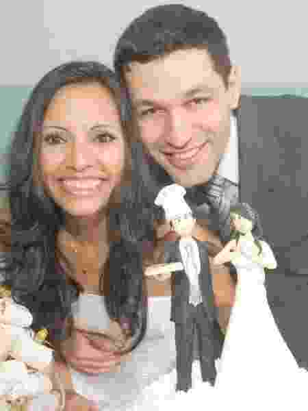 Rafaella com o marido Gleison no casamento:  - arquivo pessoal - arquivo pessoal