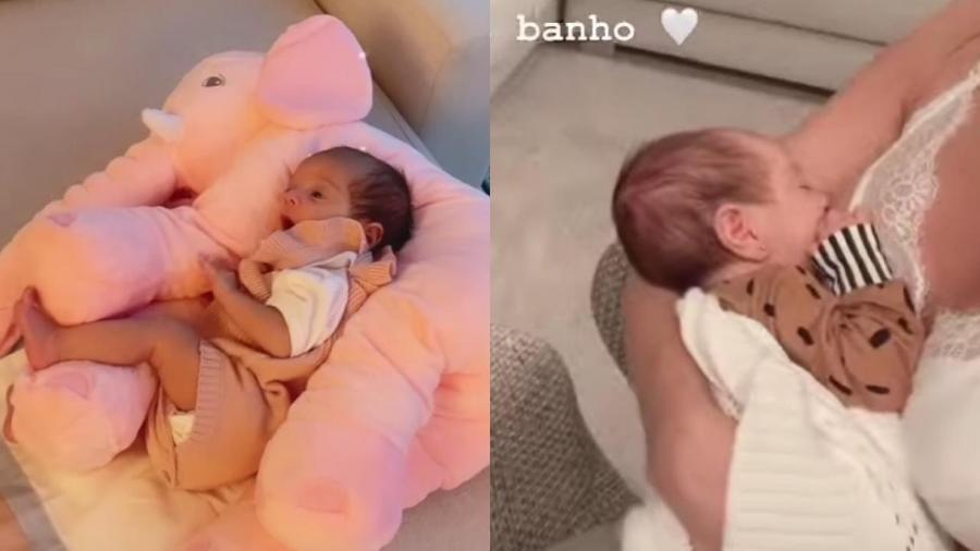 Romana Novais mostrou a filha, Raika - Reprodução / Instagram