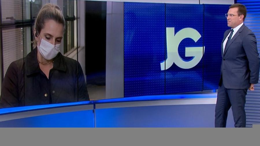 """Rodrigo Bocardi apresentou o """"Jornal da Globo"""" ontem - Reprodução/TV Globo"""