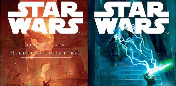 """Livros de Timothy Zahn que integram o universo expandido de Star Wars, """"Herdeiro do Império"""" e """"Ascenção da Força Sombria"""", os dois primeiros volumes da Trilogia Thrawn - Reprodução/Aleph"""