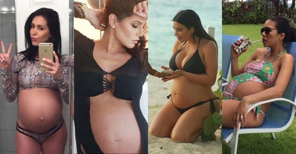 616b1f21423f Grávida na praia: Inspire-se nos maiôs e biquínis das famosas - BOL Fotos -  BOL Fotos