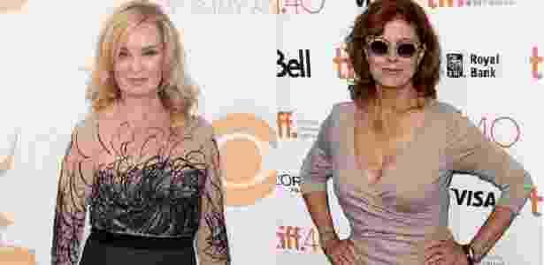 As atrizes Jessica Lange e Susan Sarandon - Fotos Getty Images