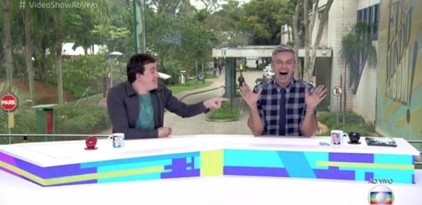 """13.jun.2016 - Otaviano Costa sugere fazer o """"teste de DNA do Ratinho"""" no """"Vídeo Show"""" - Reprodução/TV Globo"""