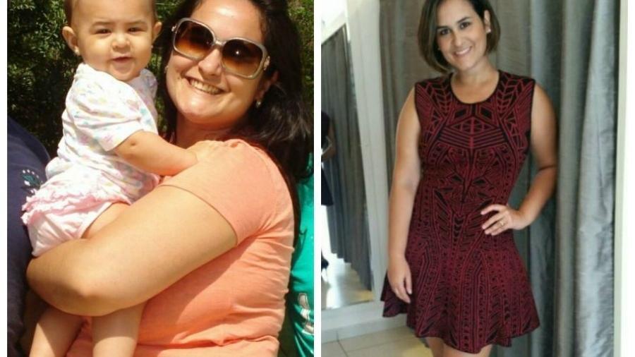 Fabiana Cesar antes e depois da dieta - Arquivo pessoal
