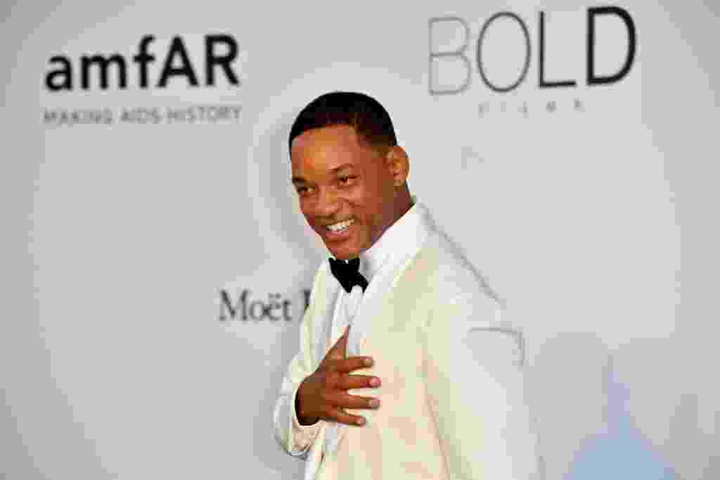 Will Smith no baile da fundação amfAR no Festival de Cannes 2017 - Alberto Pizzoli / AFP