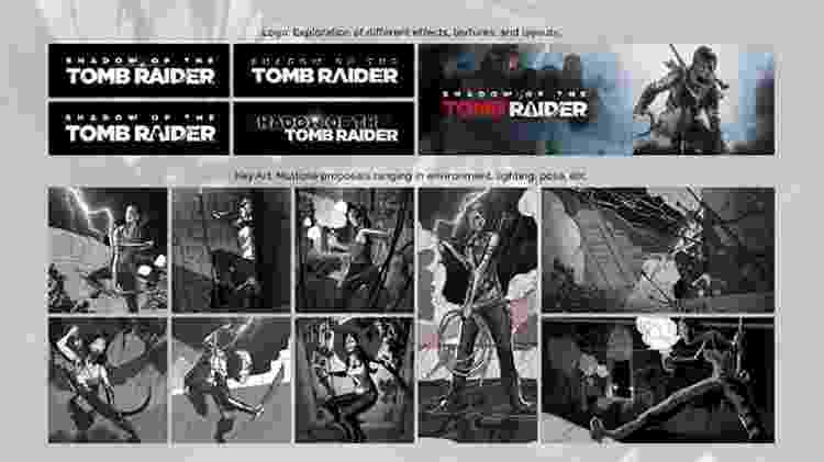 """Imagem conceitual mostra Lara utilizando novas armas e equipamentos, além de confirmar o nome do jogo como """"Shadow of the Tomb Raider"""" - Reprodução"""
