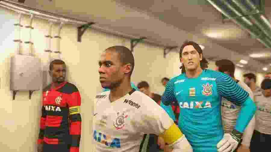 ... os dois clubes mais populares do Brasil ficarão exclusivamente no jogo  da Konami  no próximo ano 9ca84b6408397
